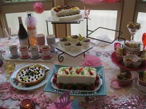 今日はケーキパーティの日