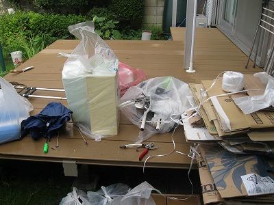 我が家の倉庫の大掃除
