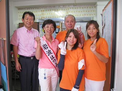 高橋県議と今日の選挙カーチームです。