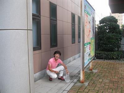 東武鎌ケ谷駅 看板前 このあたりにスポットを
