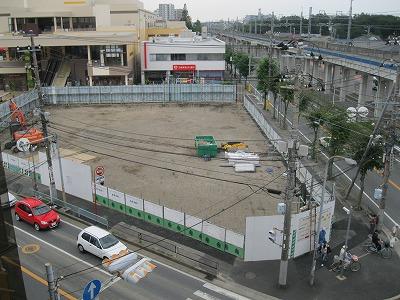 9月10日、解体され、すっかり埋められた跡地