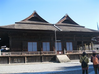中山法華経寺の比翼入母屋造