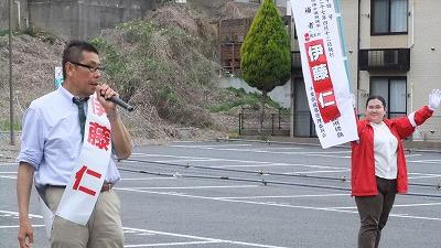 伊藤仁の街頭演説風景