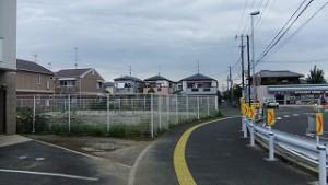 道野辺中央の道路用地