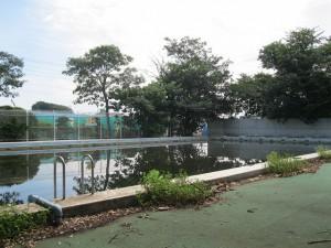 解体された旧市民プール